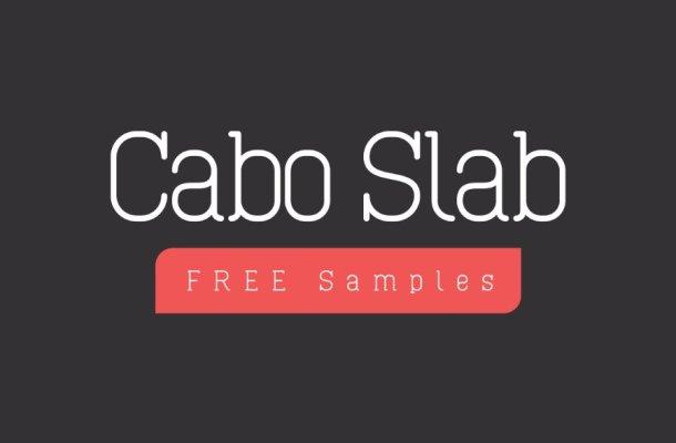 Cabo Slab Font Family