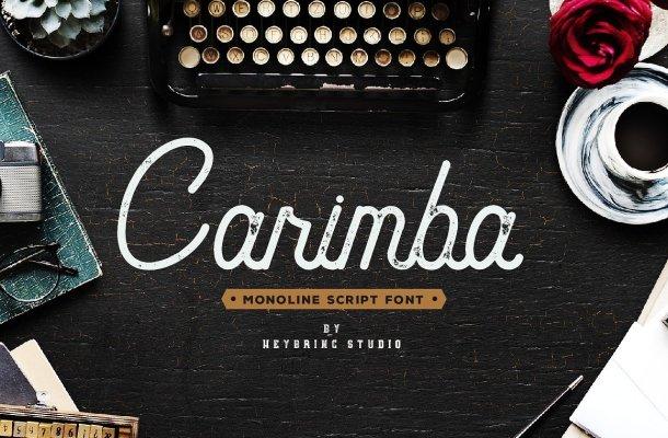 Carimba Script Font