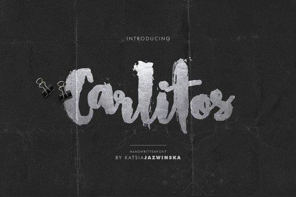 Carlitos | Grunge Script Font