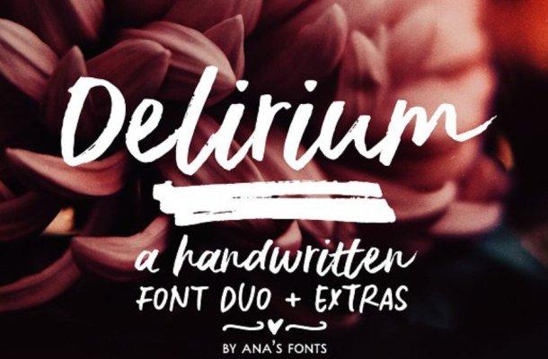 Delirium Brush Font