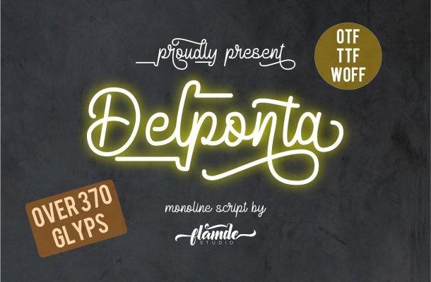 Delponta Script Font