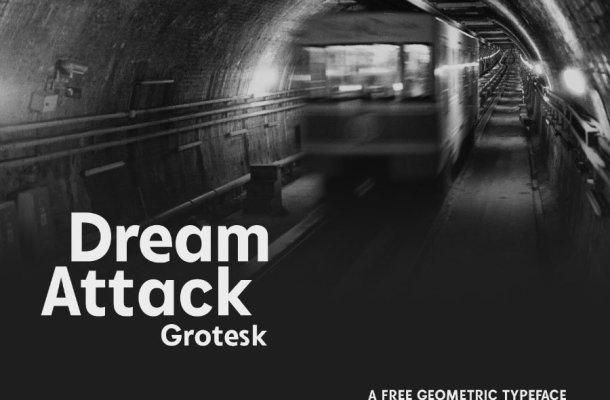 Dream Attack Grotesk Font