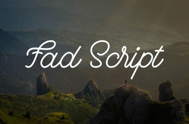 Fad Script Font
