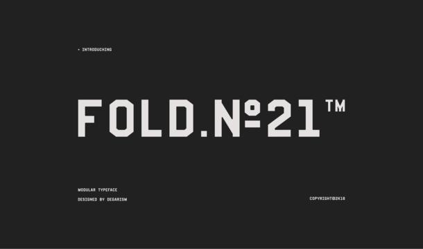Fold No.21 Mono Font
