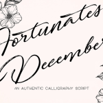 Fortunates December Font
