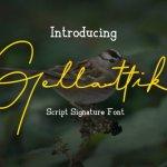 Gellattik Signature Font