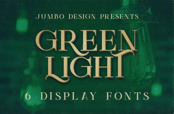 Green Light Display Font