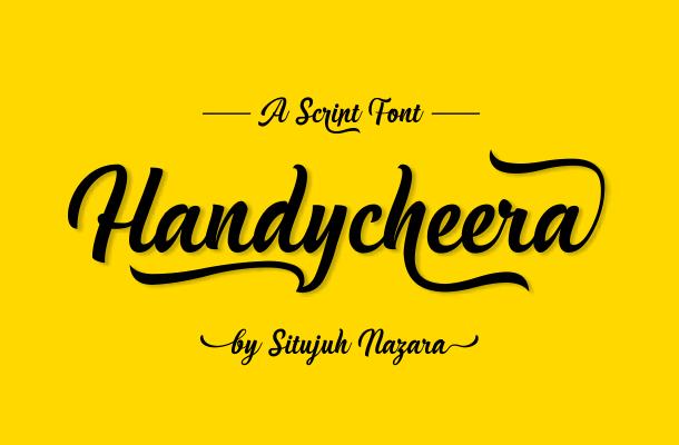 Handycheera Script Font