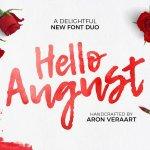 Hello August Script Font