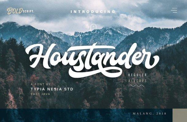 Houstander Script Font