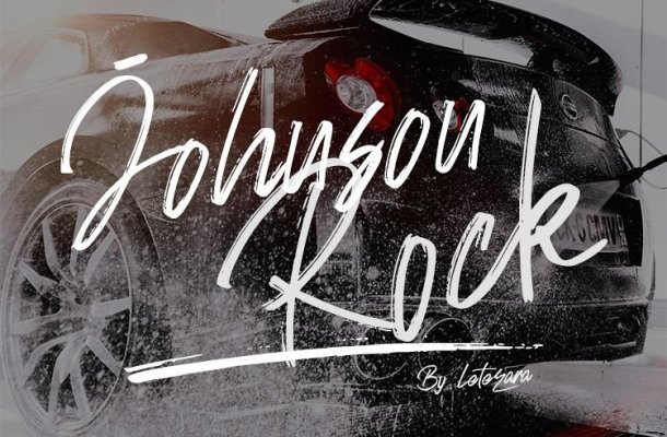 Johnson Rock Brush Font