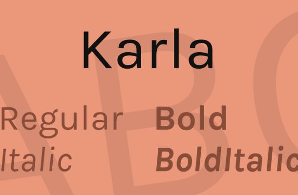 Karla Font Family