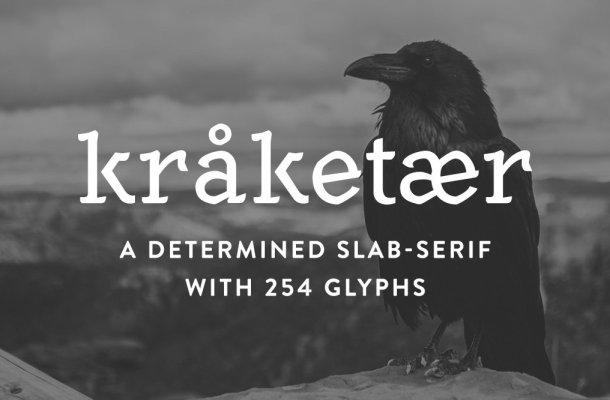 Kråketær Typeface