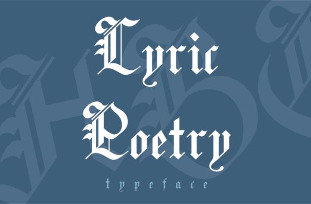 Lyric Poetry Font