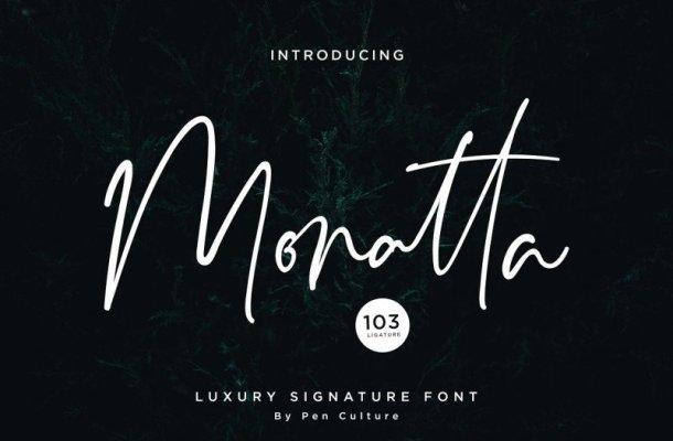Monatta Signature Font