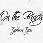 On the Rings Brush Font