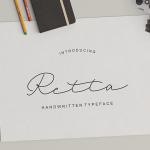 Retta Handwritten Font