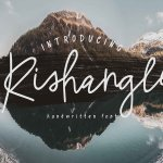 Rishangle Handwritten Font