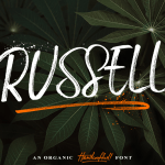 Russell Brush Font