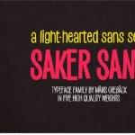 Saker Sans Font Family