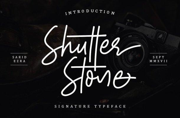 Shutter Stone Font