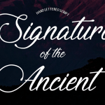 Signature of the Ancient Font