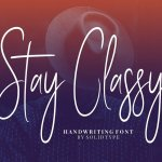 Stay Classy Script Font