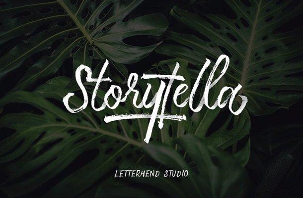 Storytella Brush Font