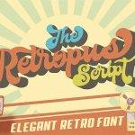 The Retropus Script Font