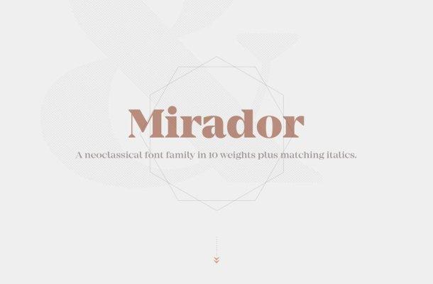 Mirador Typeface