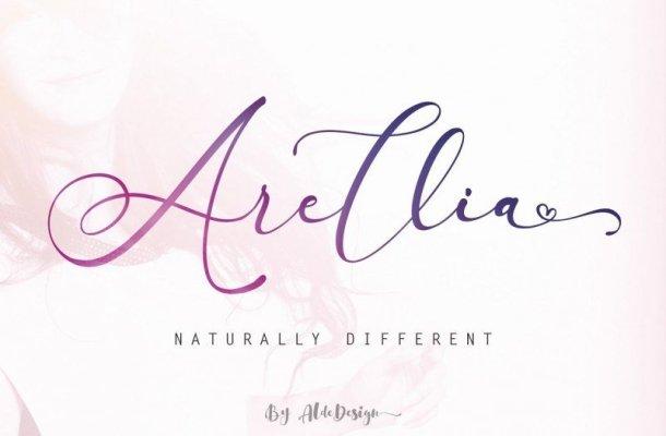 Arellia Script Font