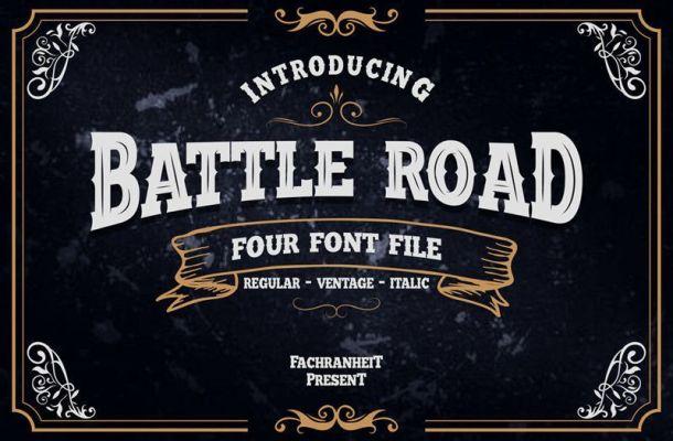 Battle Road Typeface