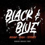 Black & Blue Brush Font