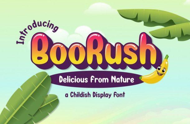 BooRush Display Font