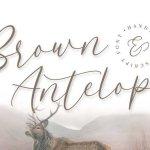 Brown Antelope Script Font