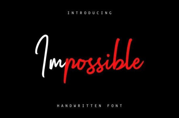 Impossible Script Font