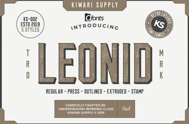Leonid Retro Layered Font Pack