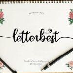Letterbest Calligraphy Font