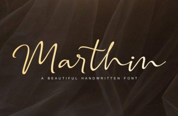 Marthin Calligraphy Font