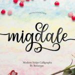 Migdale Calligraphy Font