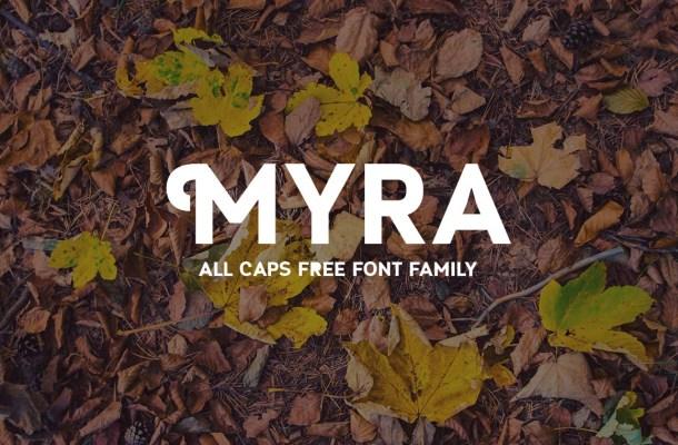 Myra Caps Typeface