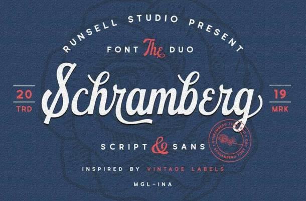 Schramberg Font Duo+Logo Template