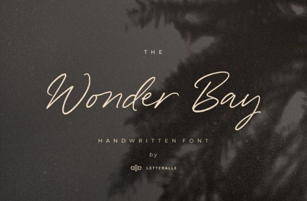 Wonder Bay Handwritten Font