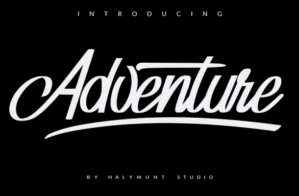 Adventure Invisible Font