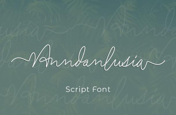 Anndanlusia Font