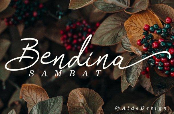 Bendina Sambat Script Font