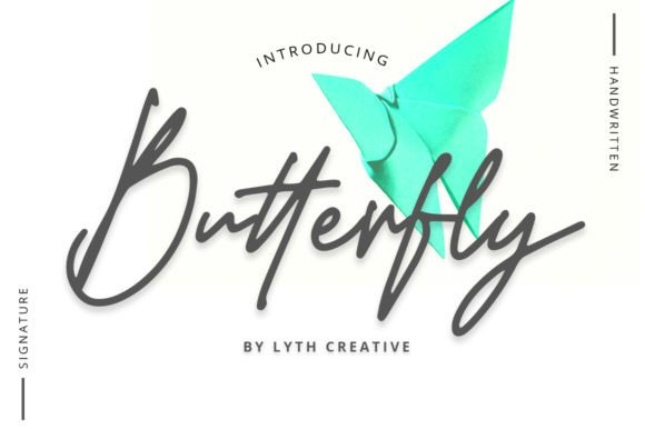 Butterfly Signature Font