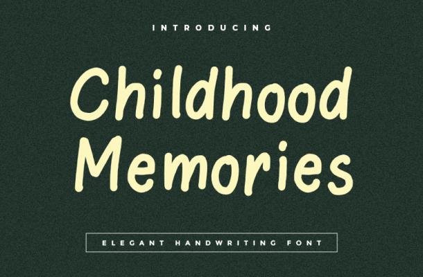 Childhood Memories Font