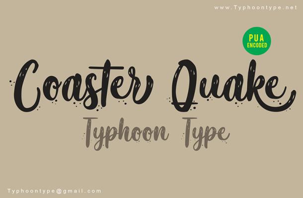 Coaster Quake Font