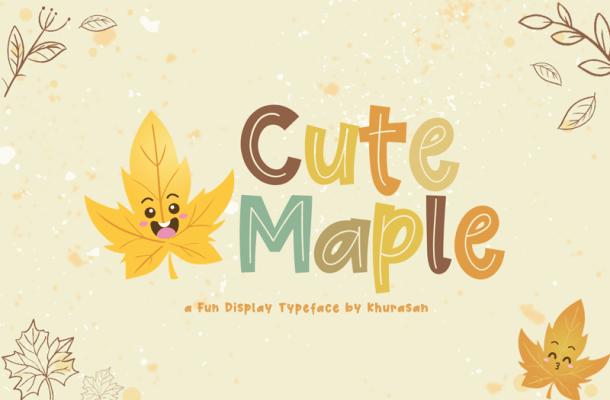 Cute Maple Font